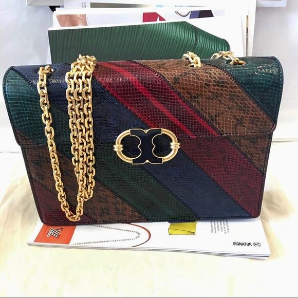 049fe0811fb0 Tory Burch Gemini Link Snake Shoulder Bag